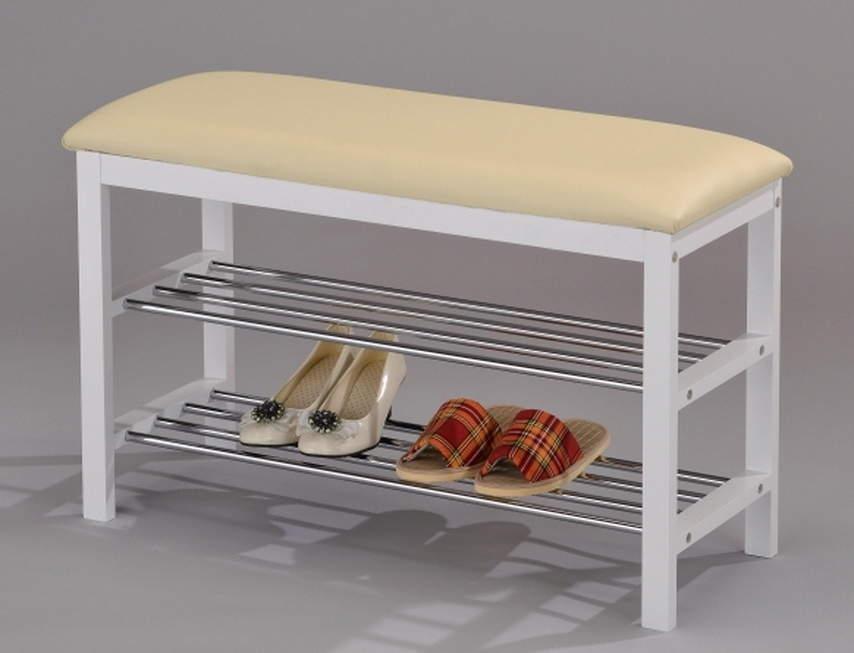 Полка для обуви с сиденьем в прихожую 2